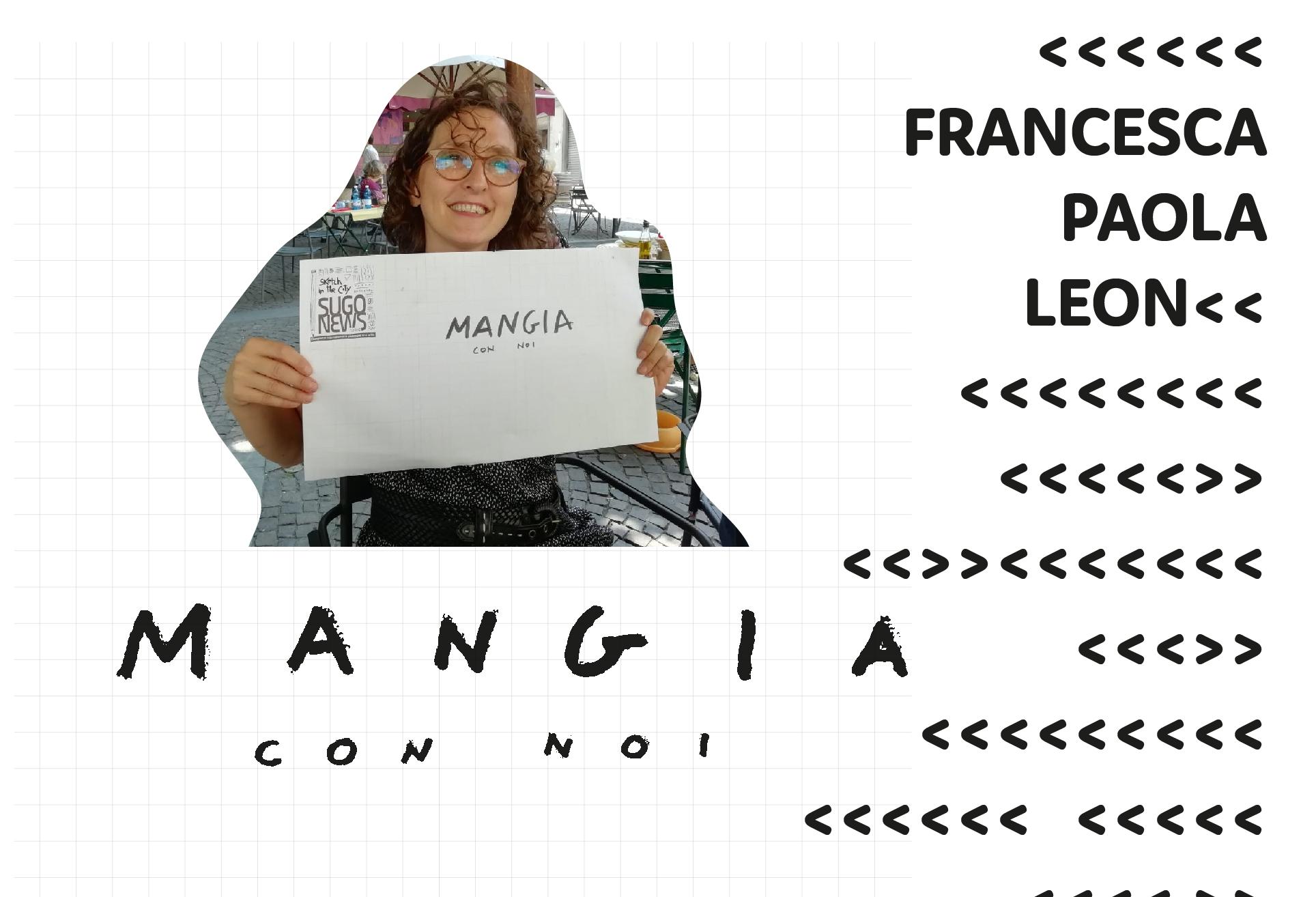 MANGIA CON NOI Francesca Leon