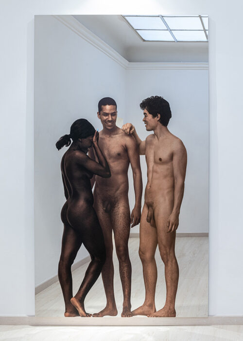 Michelangelo Pistoletto - Messa a nudo – H 2020, silkscreen on super mirror stainless steel, 250 x 150 cm, 98,42 x 59,05 in. Ph Ela Bialkowska, OKNO Studio